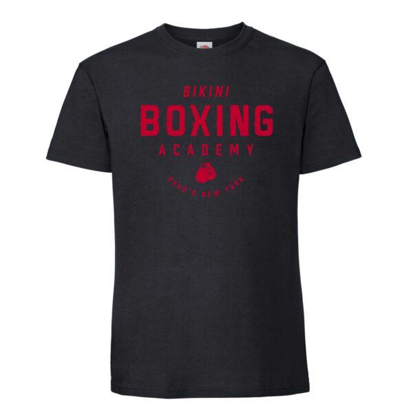 Bikini boxing Mens T shirt red on black