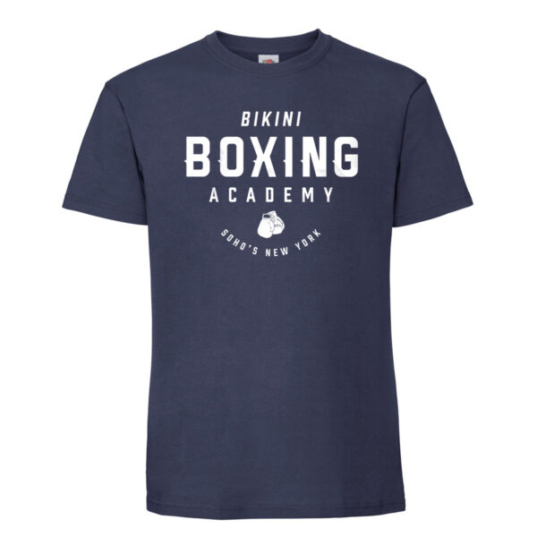 Bikini boxing Mens T shirt white on navy