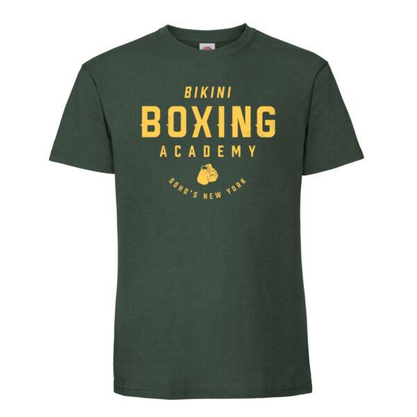 Bikini boxing Mens T shirt yellow on green