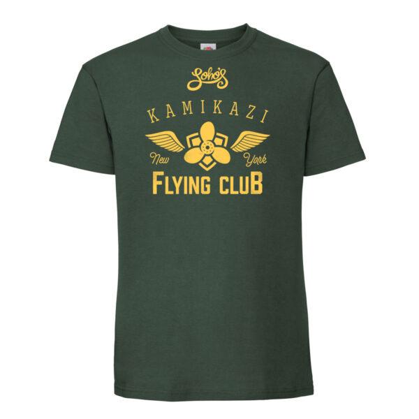 Kamikazi Wings mens t shirt green