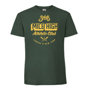 Mile high mens t shirt green