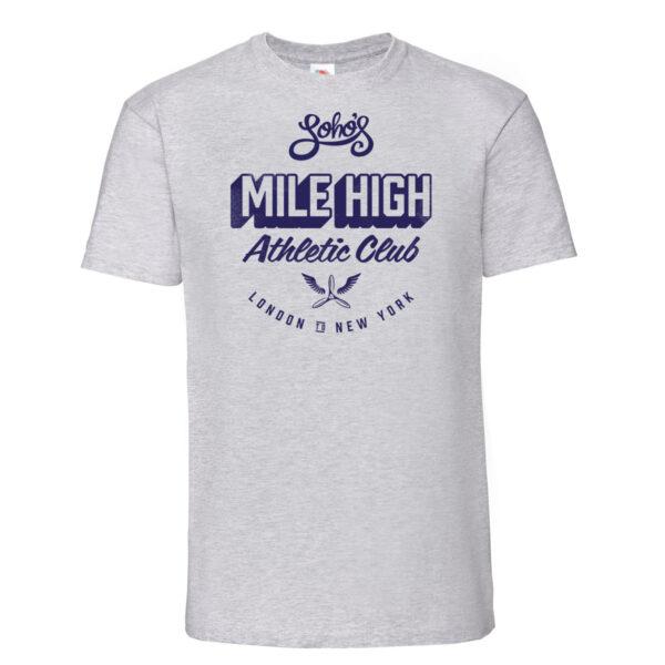 Mile high mens t shirt heather grey