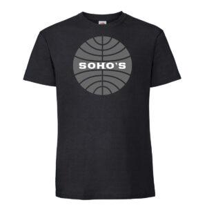 Retro Airline T-Shirt for Men black