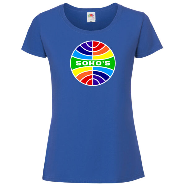 PanAm rainbow womens T shirt blue