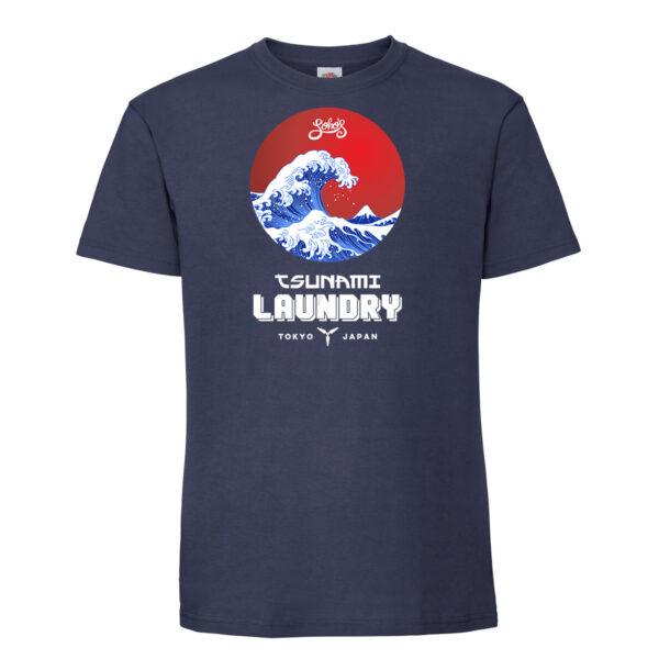 Tsunami laundry mens t shirt navy
