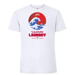 Tsunami laundry mens t shirt white