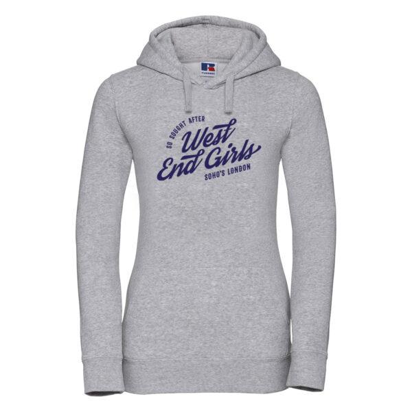 West End Girls Womens hoodie oxford grey