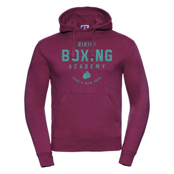 bikini boxing M hoodie turq burgundy