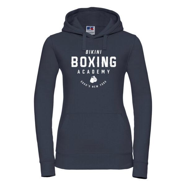 bikini boxing Womens hoodie french navy