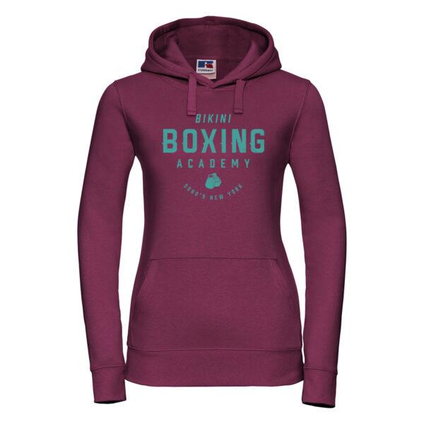 bikini boxing Womens hoodie turq bugundy