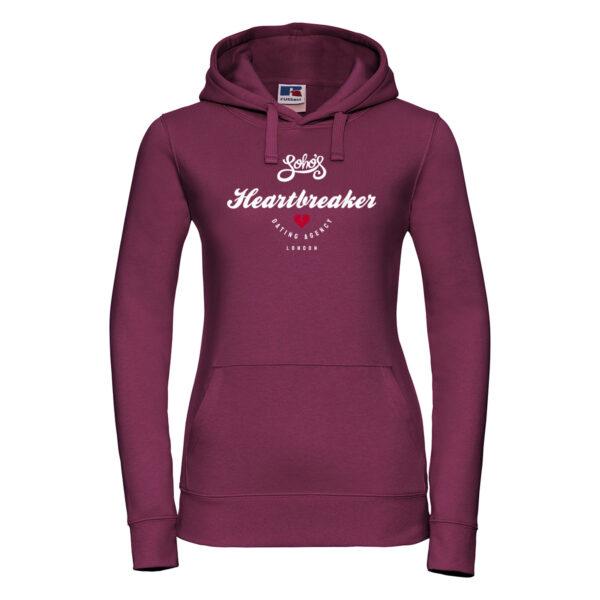 heartbreaker Womens hoodie bugundy 1