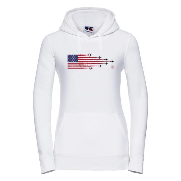 kamiakaze retro panam Womens hoodie white