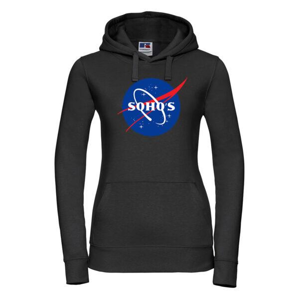 nasa light Womens hoodie black