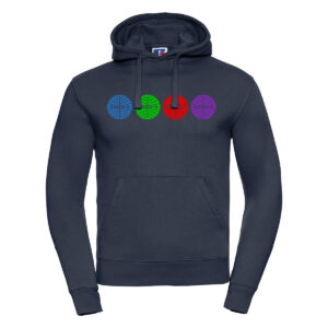 colourful airline M hoodie french navy