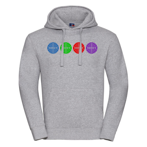 colourful airline M hoodie oxford grey