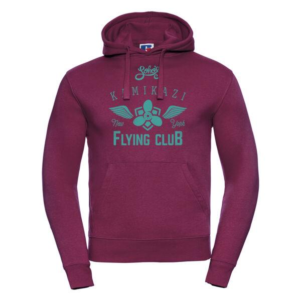 kamikazi graphic M hoodie burgundy