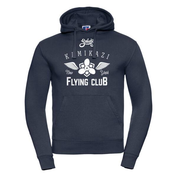 kamikazi graphic M hoodie french navy