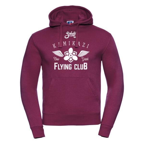 kamikazi graphic M hoodie white burgundy