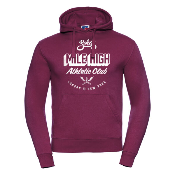 mile high M hoodie burgundy
