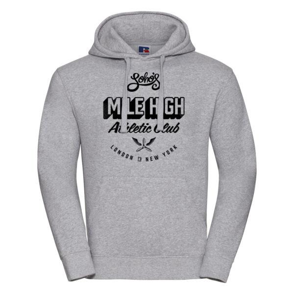 mile high M hoodie oxford grey