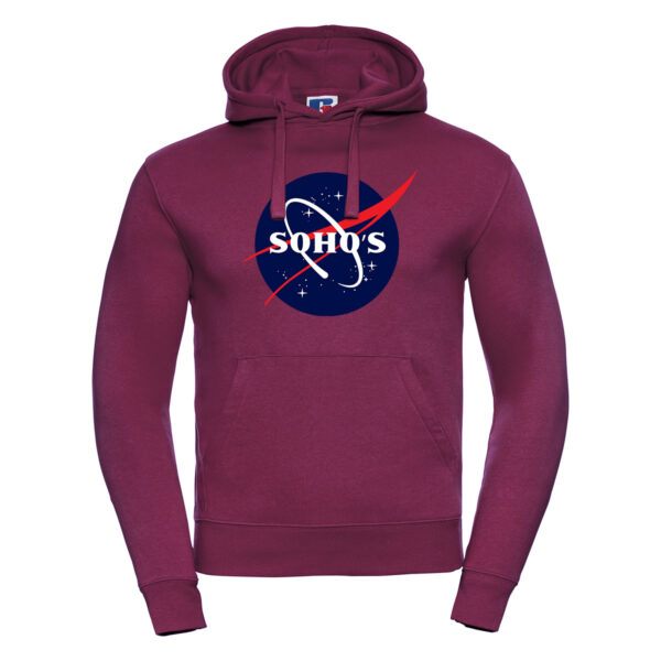 nasa dark M hoodie burgundy