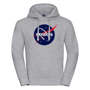nasa dark M hoodie oxford grey