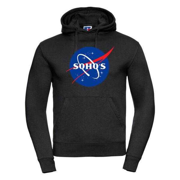 nasa light M hoodie black