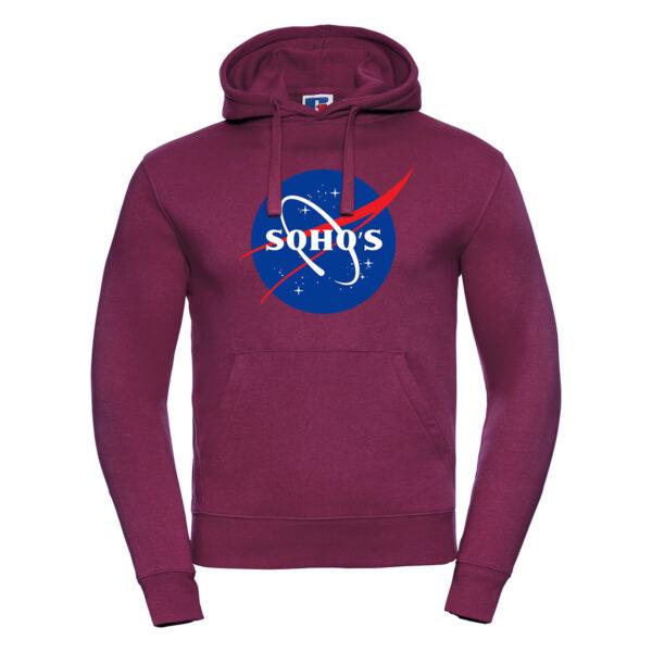 nasa light M hoodie burgundy