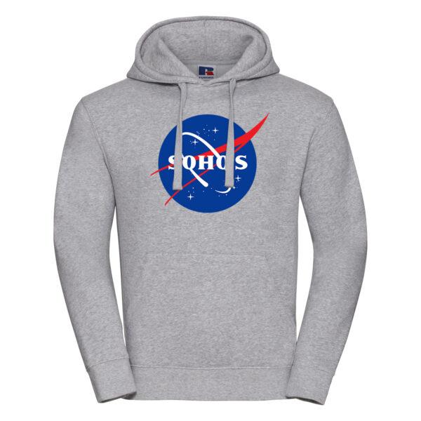 nasa light M hoodie oxford grey