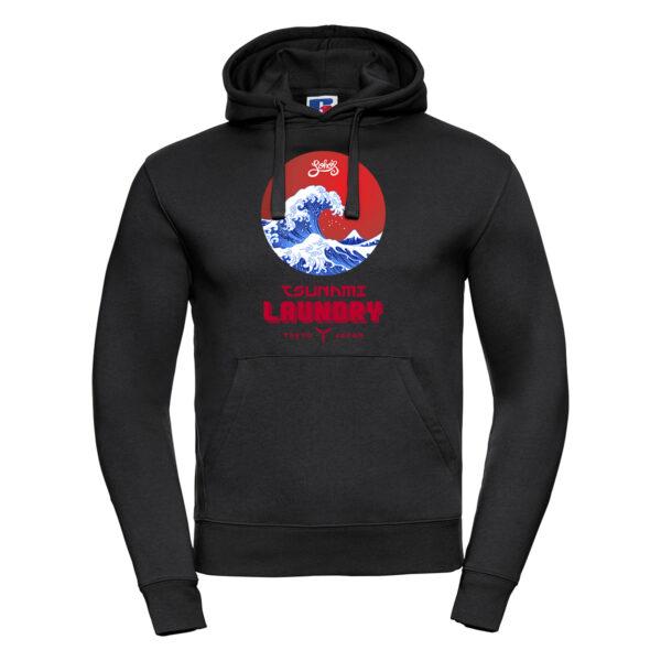 tsunami wave M hoodie black