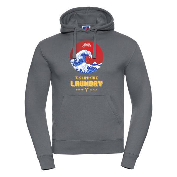 tsunami wave M hoodie convoy grey