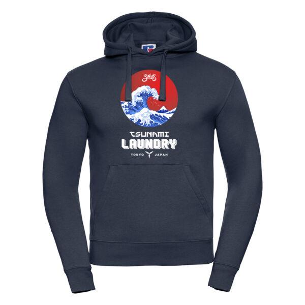 tsunami wave M hoodie french navy