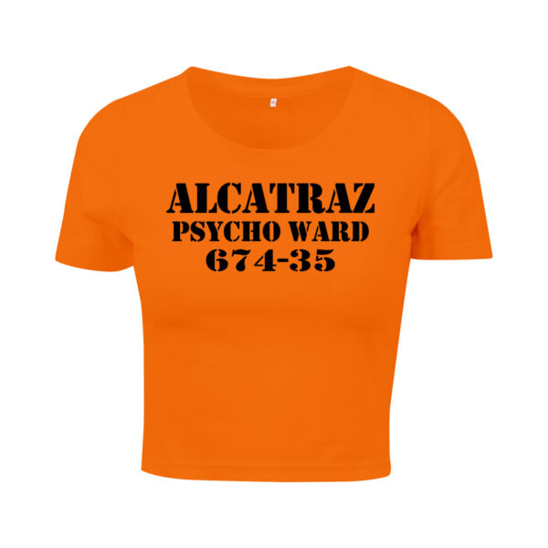 alcatraz orange cropped t