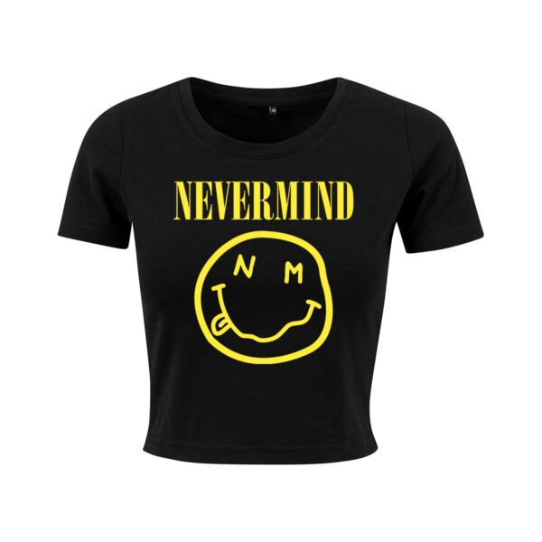 nevermind black cropped t