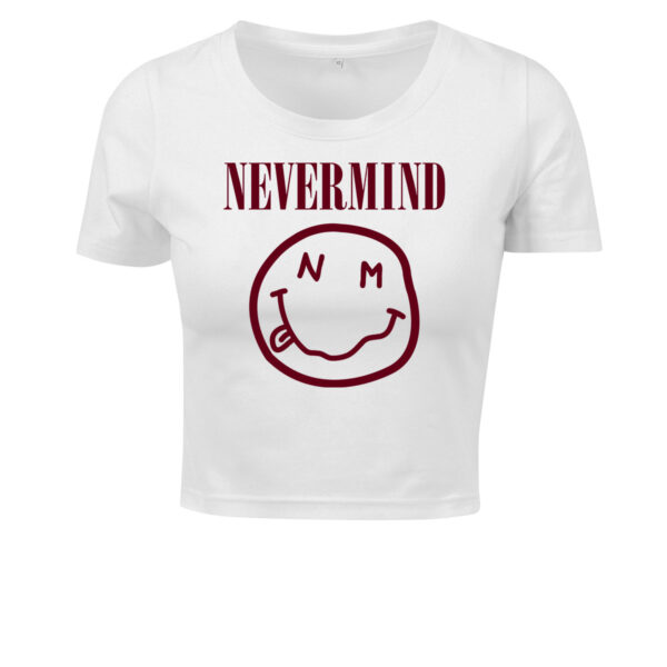 nevermind white cropped t 1